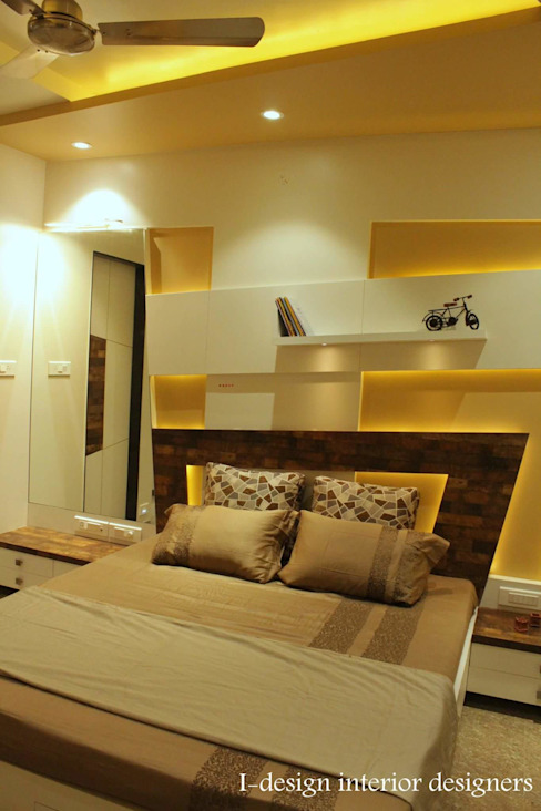 3bhk Modern style bedroom by I - design interior designer's Modern Plywood