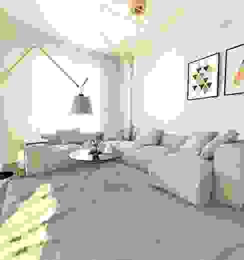 Livings de estilo  por Murat Aksel Architecture
