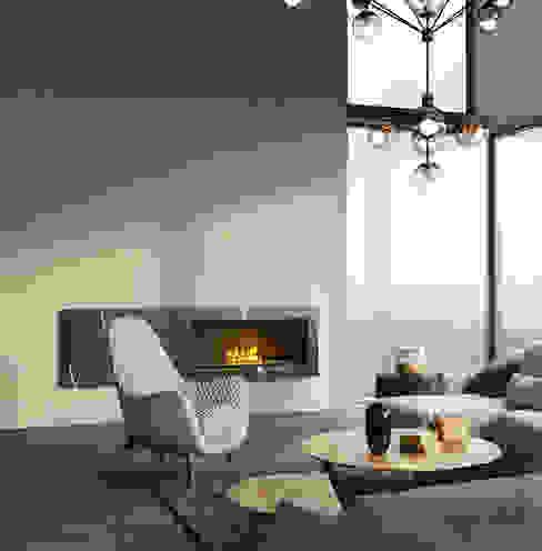 MIKOLAJSKAstudio 现代客厅設計點子、靈感 & 圖片