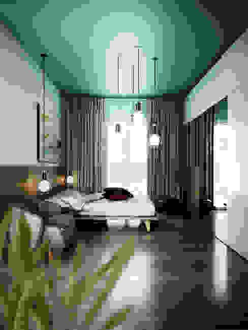 rendering4you Спальня Бірюза