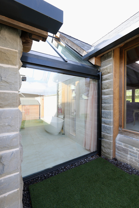 Forty Farm Country style houses by IQ Glass UK Country