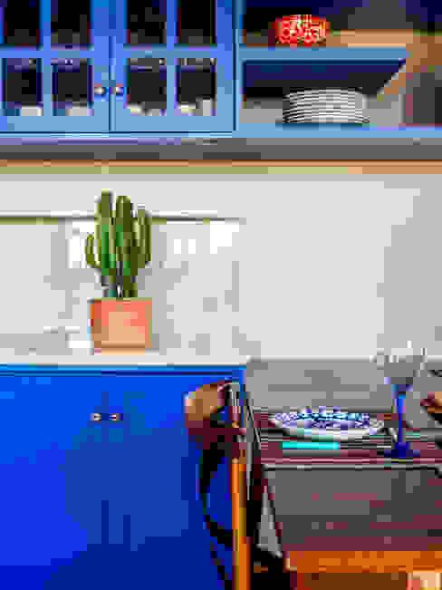 ISLA ARQUITETURA, INTERIORES E DESIGN Cuisine rustique Bleu