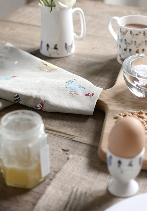 Sophie Allport's 'Lay a little egg' collection: country  by Sophie Allport, Country Ceramic
