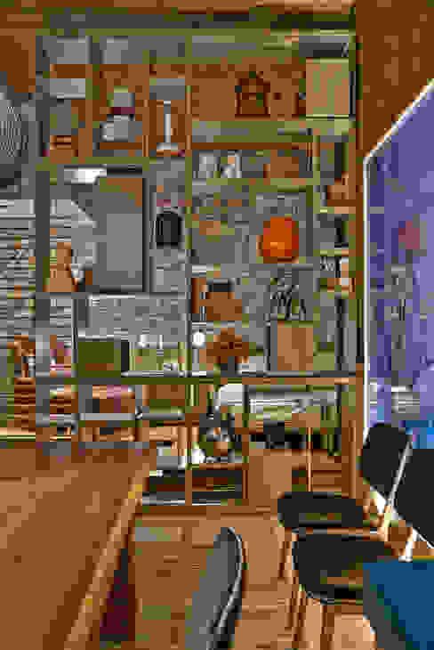 Luciana Savassi Guimarães arquitetura&interiores Rustic style dining room
