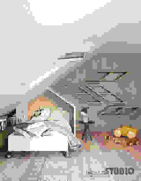 Gemütliche Schlafnischen unter Dachschrägen
