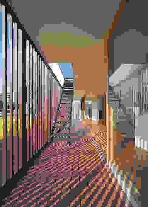 Balkon, Beranda & Teras Modern Oleh 森裕建築設計事務所 / Mori Architect Office Modern