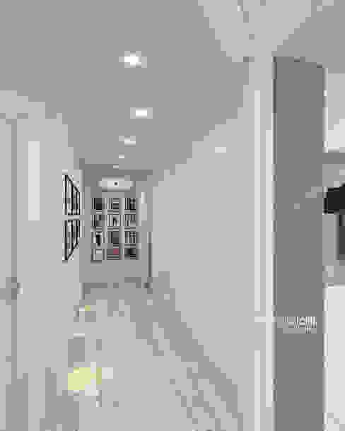 Pasillos, vestíbulos y escaleras de estilo moderno de Beniamino Faliti Architetto Moderno
