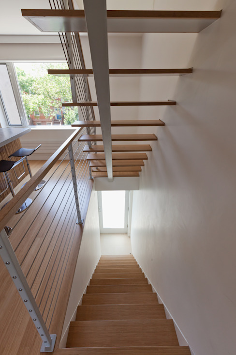 Carroll Gardens Duplex Modern Corridor, Hallway and Staircase by Sarah Jefferys Design Modern