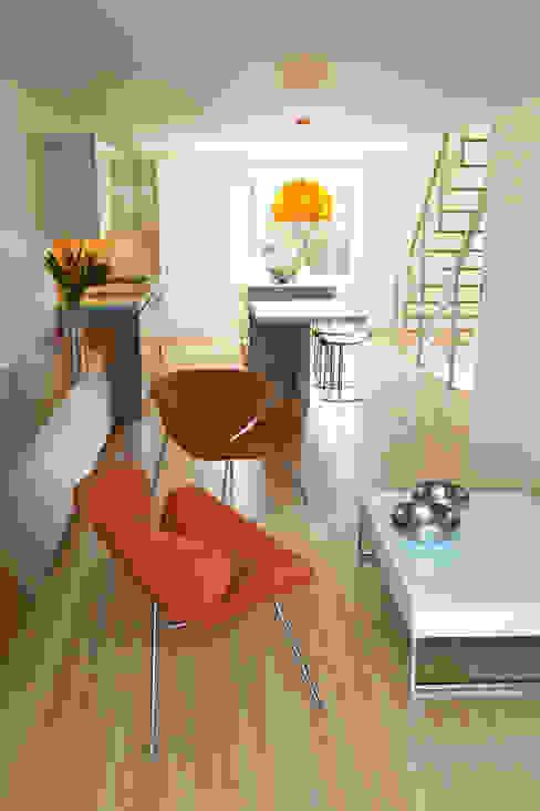 Carroll Gardens Duplex Modern Living Room by Sarah Jefferys Design Modern