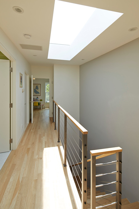 Cobble Hill Townhouse Modern Corridor, Hallway and Staircase by Sarah Jefferys Design Modern