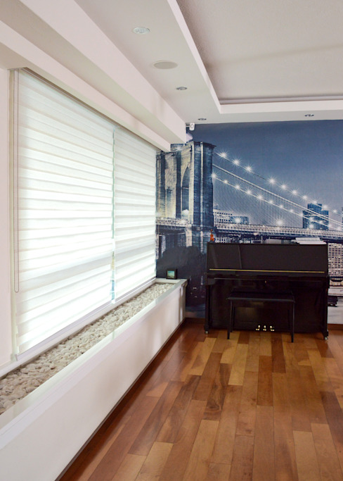 Salas de estilo moderno de GHT EcoArquitectos Moderno