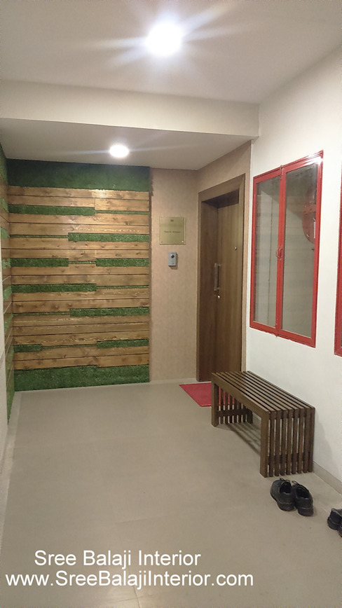 Interior of Residence Sree Balaji Interior Modern corridor, hallway & stairs