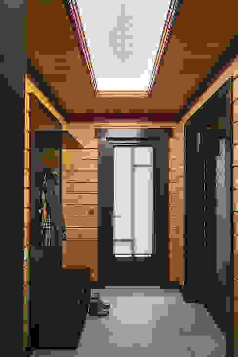 Pasillos, vestíbulos y escaleras de estilo rural de ItalProject Rural Madera Acabado en madera