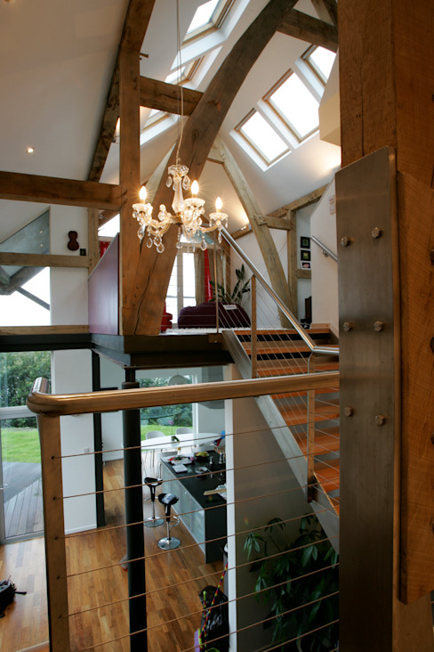 Long House Interior Scandinavian style living room by Retool architecture Scandinavian Wood Wood effect
