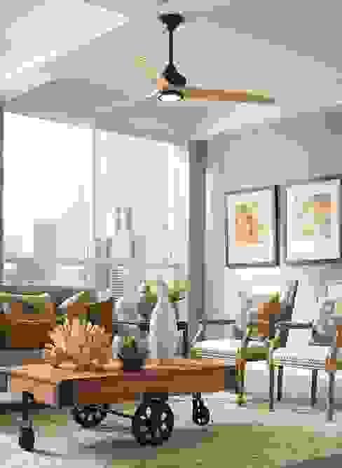 CASA BRUNO Spitfire ventilador de techo Ø 152 cms, con luz LED, beige grisáceo, aspas de madera 'desgastada' Casa Bruno American Home Decor Hoteles