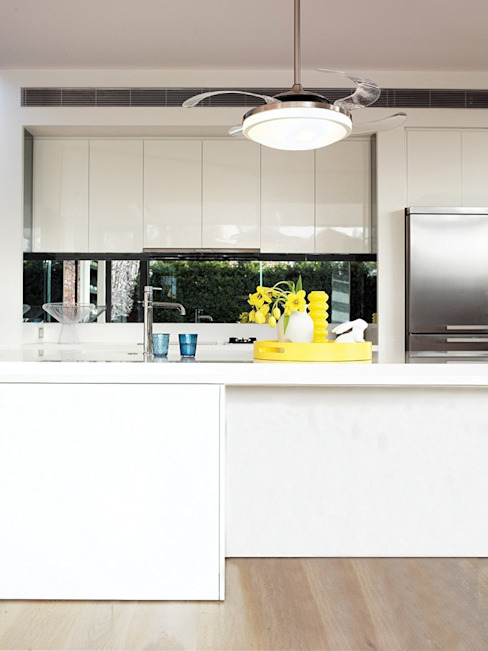 CASA BRUNO Fanaway Evo ventilador de techo, cromo brillante, con aspas retráctiles de Casa Bruno American Home Decor Moderno