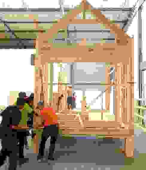 Pod house framework, pod in its infancy.:   by Greenpods