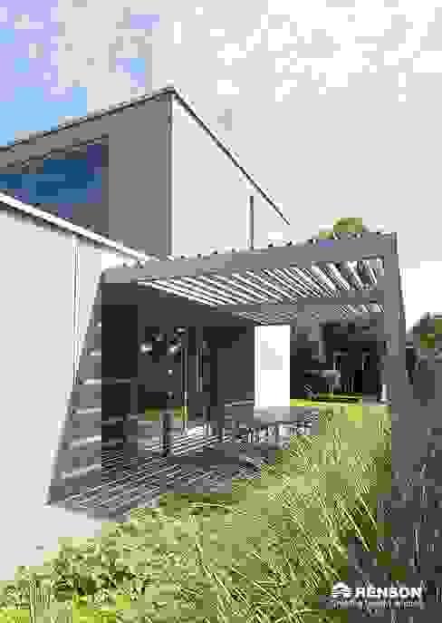 Terrassendach derraumhoch3 Moderner Balkon, Veranda & Terrasse
