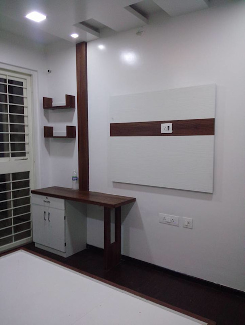 2 BHK RESIDENTIAL PROJECT @2016 SHARADA INTERIORS Modern style bedroom