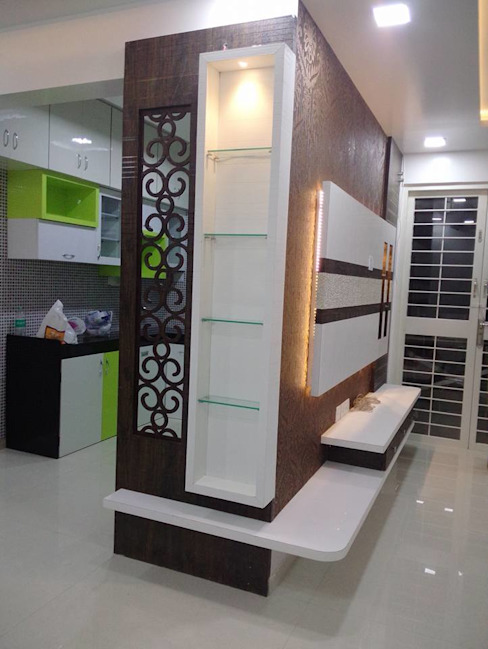 2 BHK RESIDENTIAL PROJECT @2016 SHARADA INTERIORS Modern living room