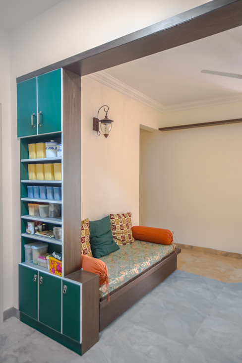 2 BHK in country Style Interiors : country  by In Built Concepts is now FABDIZ,Country Plywood