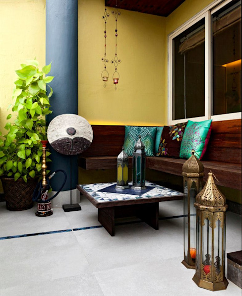 Mittal Residence, Colaba, Mumbai Inscape Designers Eclectic style balcony, veranda & terrace