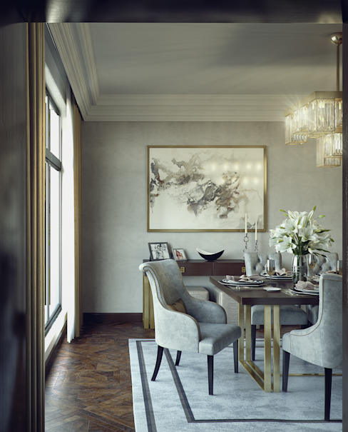 Modern dining room by m.frahat Modern
