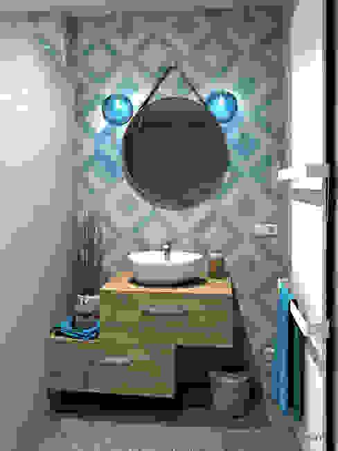 Bathroom by MJ Intérieurs, Mediterranean