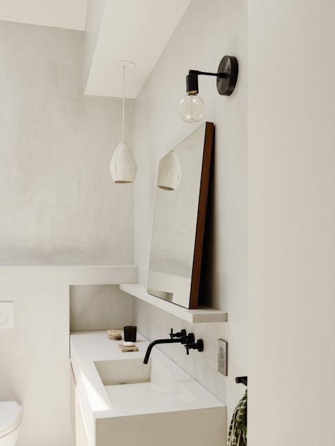 Bathroom with Concrete finished walls Modern Bathroom by General Assembly Modern Concrete