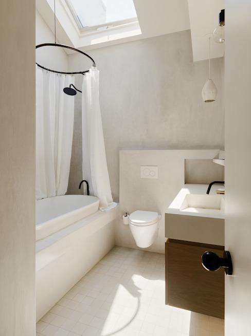 Bathroom with Concrete Finishes Modern Bathroom by General Assembly Modern Concrete