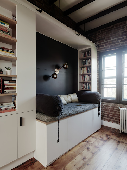 Study with Reading Nook Modern Study Room and Home Office by General Assembly Modern