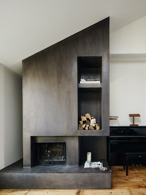 State Street Modern Living Room by General Assembly Modern Concrete