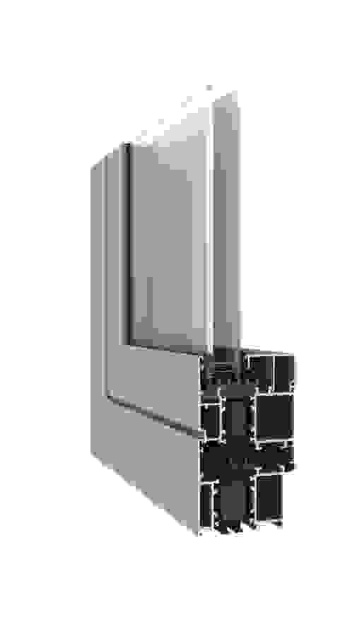 ผสมผสาน  โดย Smartalu Aluminium Solutions, ผสมผสาน อลูมิเนียมและสังกะสี