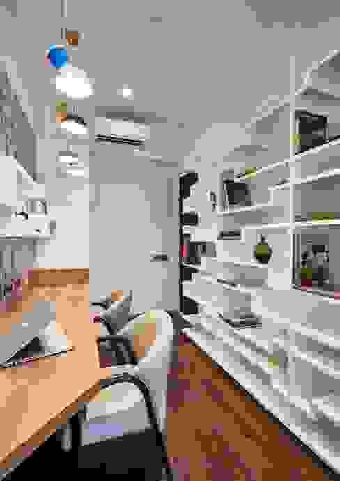 study area Modern study/office by homify Modern