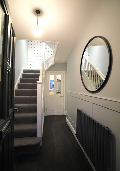Corridor & hallway by Patience Designs, Modern