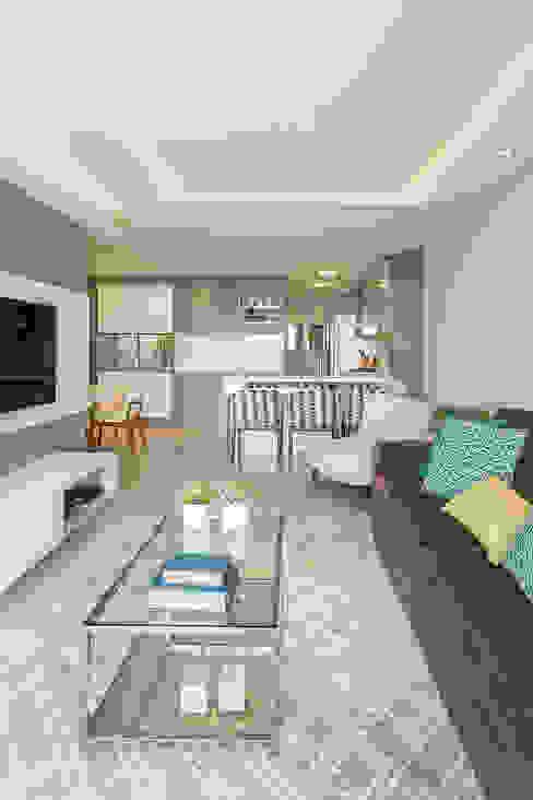 Living room by Juliana Agner Arquitetura e Interiores, Modern