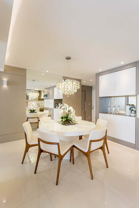 Ruang Makan Modern Oleh Juliana Agner Arquitetura e Interiores Modern