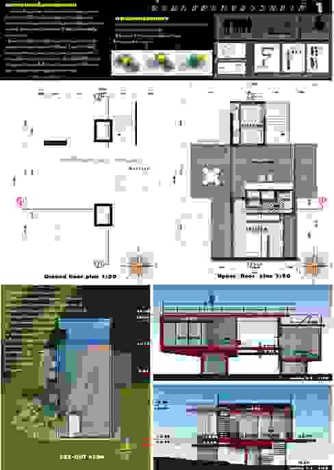 Nhà phong cách chiết trung bởi LEVEL ARCHITECT Chiết trung