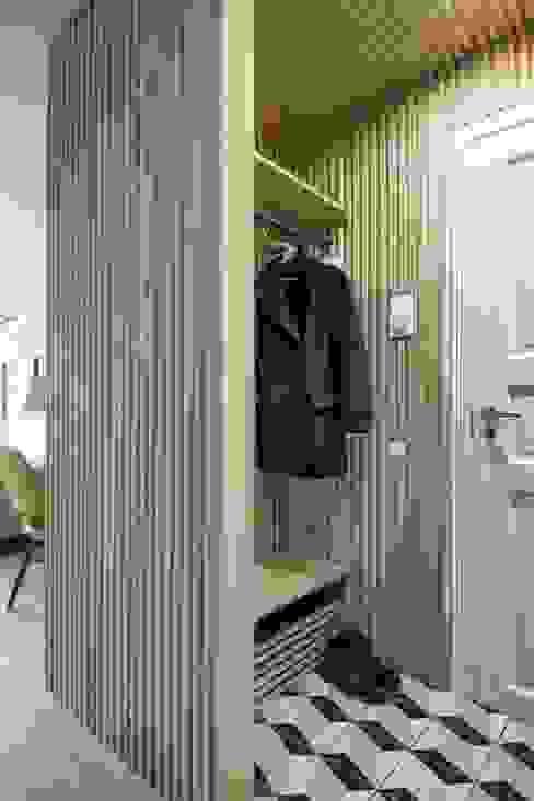 INT2architecture 斯堪的納維亞風格的走廊,走廊和樓梯 木頭 White