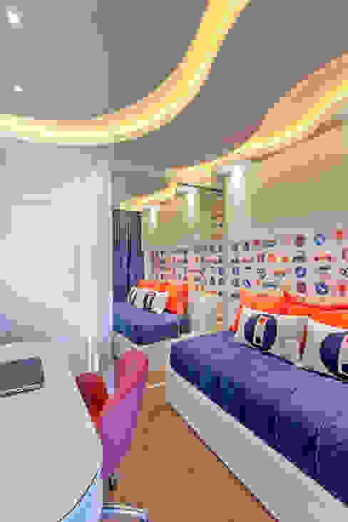 Apartamento Jundiaí Quarto infantil moderno por Designer de Interiores e Paisagista Iara Kílaris Moderno