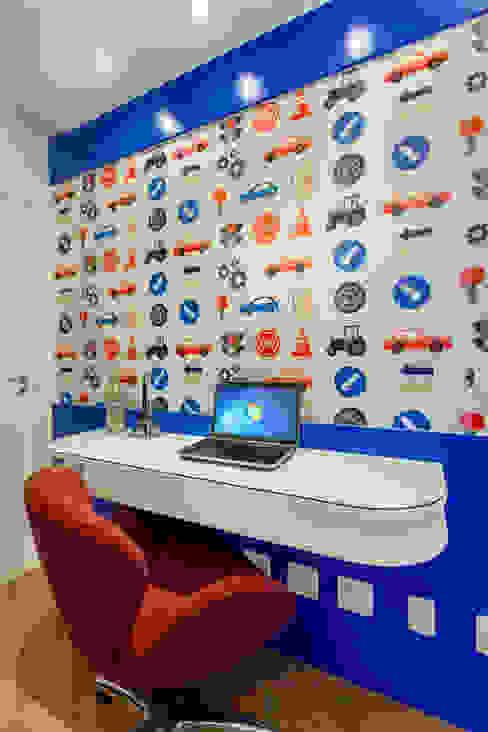 Apartamento Jundiaí Designer de Interiores e Paisagista Iara Kílaris Quarto infantil moderno Azul