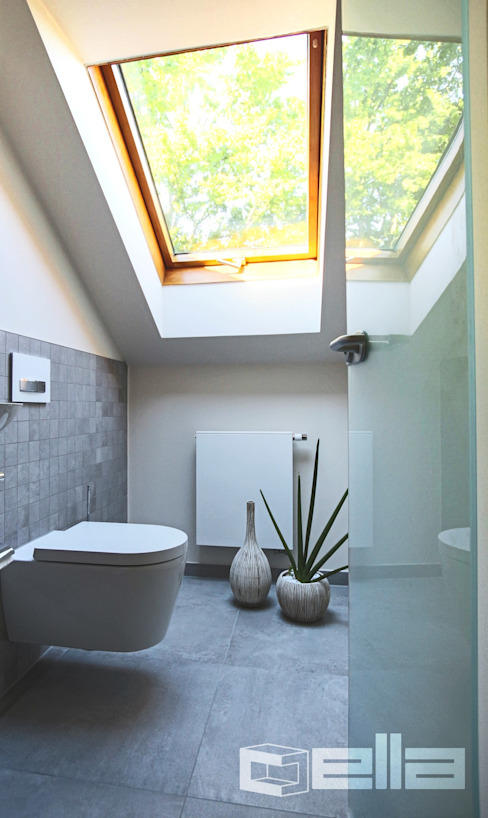 Cella GmbH 모던스타일 욕실 타일 그레이