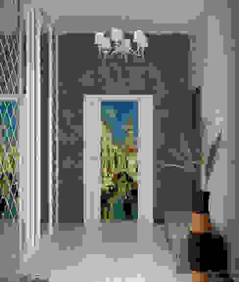 Дизайн тамбура в доме по ул. Бабыча, г.Краснодар Коридор, прихожая и лестница в классическом стиле от Студия интерьерного дизайна happy.design Классический