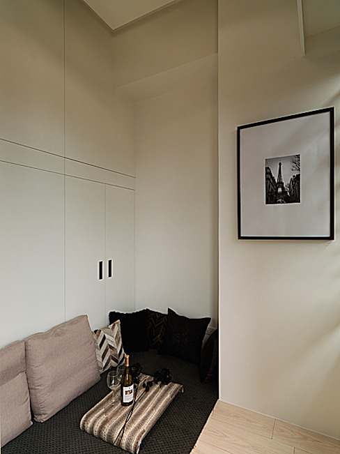 浪漫情挑紐約上城風:  臥室 by 大集國際室內裝修設計工程有限公司
