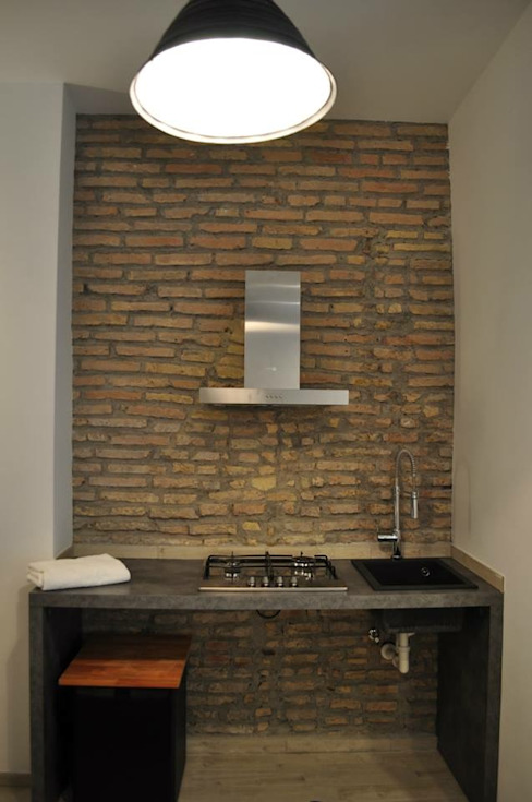 Angolo cottura BB1 LABORATORIO DI ARCHITETTURA & DESIGN Cucina in stile industriale