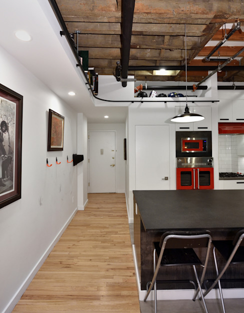 Renovation at 29 Tiffany Industrial style dining room by KBR Design and Build Industrial
