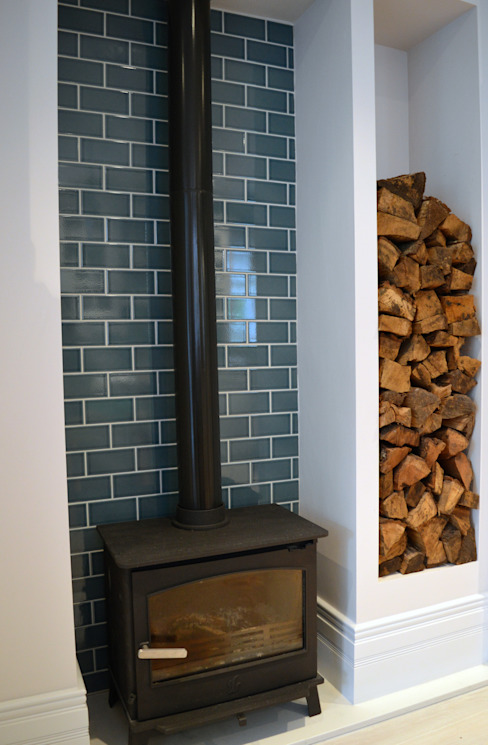 Woodburner in kitchen by Jam Space Ltd Eclectic