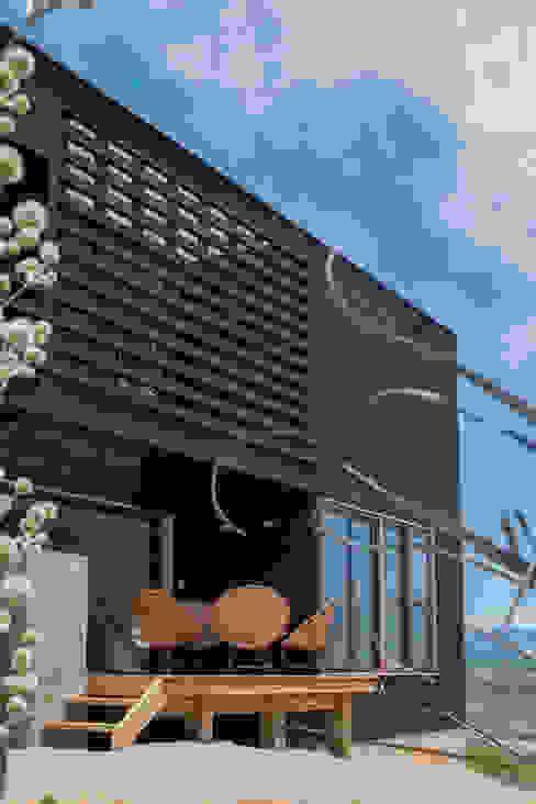 terraza principal Casas de estilo rústico de Thomas Löwenstein arquitecto Rústico Madera Acabado en madera