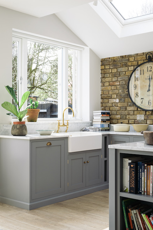 The SW12 Kitchen by deVOL: industrial  by deVOL Kitchens, Industrial Wood Wood effect