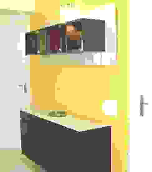 Kitchen (Individual House, Nallagandla): minimalist  by Kreative design studio,Minimalist Wood Wood effect